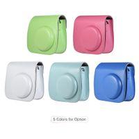 bolsa de couro bolsa de câmera venda por atacado-Mini pu bolsa de couro da câmera case para fujifilm instax 9/8/8 + / 8 s câmeras instantâneas bolsas bolsa de ombro bolsa