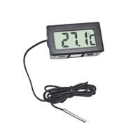 medidores de clima al por mayor-Termómetro digital LCD Higrómetro Sensor de temperatura Medidor Estación meteorológica Herramienta de diagnóstico Regulador térmico Termometro Digital -50 ~ 110