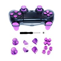 thumbsticks ps4 controller groihandel-Metal Button Repair Kit Controller Thumbsticks Button Controller Joysticks Metal Button For PS4