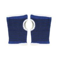 grüne led-armbänder großhandel-2 stücke Unisex Blaue Handgelenk Hand Unterstützung Handschuh + Elastische Schweißbänder Klammer Wraps Wachen Für Gym Volleyball Badminton Hot # 119712