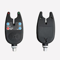 сигнализация об укусе рыбы оптовых-Electronic High Sensitive LED Light Fish Bite Sound Fishing Alarm Indicator Bell Waterproof Fishing Equipment