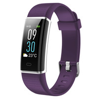 bilek bandı seyretmek bluetooth toptan satış-Su geçirmez Bluetooth Spor Izci Renkli Ekran Bilezik Akıllı Bilek Watch Band ile Dokunmatik Ekran ile iPhone Android için