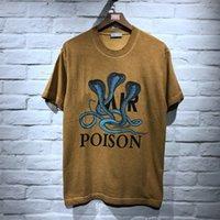 en kaliteli pamuklu tişörtler toptan satış-2018 Xieruis En Kaliteli Cobras Baskılı Kadın Erkek Pamuk T gömlek tees Hiphop Streetwear Erkekler Kısa Kollu T gömlek Yaz tarzı