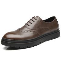 erkek için ofis rahat ayakkabılar toptan satış-Erkekler bullock ayakkabı erkekler elbise ayakkabı kahverengi siyah Sivri Burun iş ayakkabı iş adamı takım ayakkabı ofis rahat adam adam için daireler