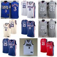 ben jerseys achat en gros de-Maillot Philadelphia Joel 21 Embiid pour hommes 76ers Ben 25 Simmons Jimmy 23 Butler Allen 3 maillots de basket Iverson