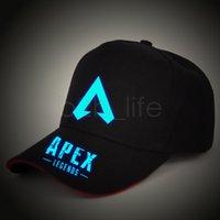 güneş gece ışığı toptan satış-Apex legends oyunu kapaklar Aydınlık yaz örgü ışık gece açık beyzbol şapkası hip hop şapka popüler güneş şapka AAA1923