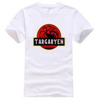 plus größenneuheitst-shirts großhandel-Dracarys Dragon T-Shirt Baumwolle Mann heißer Verkauf Homme Top Sportswear Plus Size Neuheit Kurzarm modische Tee