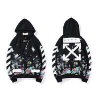 ingrosso abbigliamento natale giapponese-New Graffiti stampa Pullover Felpe con cappuccio Estate New Classic con cappuccio a maniche lunghe da uomo felpa cappotto da donna