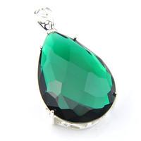 Colgante de plata esterlina Verde Jade en Forma de TV NUEVO