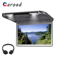 Wholesale video player hdmi for sale - Group buy Caroad Roof Mount Monitor Inch HD P Video Ultra Slim MP5 Player With HDMI USB SD IR FM Transmitter Speaker Car Screen