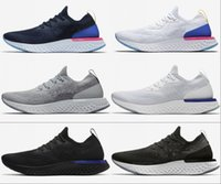 Wholesale womens summer canvas shoes for sale - Group buy Hot Epic React Running Shoes Mens womens Triple Black White Oreo Blue High quailty Newest Summer Spring outdoor Sports Sneakers US
