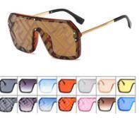 sonnenbrillen goldene pfeile groihandel-2019 New Letter Watermark Einteilige Sonnenbrille Damen Herren Trendy Sonnenbrille Damen Square Flat Top Coating Brillen