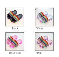 Wholesale children sandals baby slippers shoes for sale - Group buy Baby Boys Girls LED Slippers Rainbow Color Summer Boys Girls Luminous Sandals Child Kids Designer with LED Light Beach Bath Home Shoes A5801