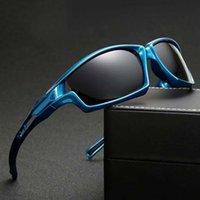 gafas de ciclismo polarizadas amarillas al por mayor-2019 Gafas de sol polarizadas para hombre de las gafas de sol de ciclismo Bicicleta de conducción mujeres de los hombres gafas de visión nocturna lente amarilla