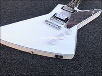 Wholesale clear electric guitar for sale - Group buy Rare Tommy Thayer White Lightning Explorer Outfit Metallic White Electric Guitar Seymour Humbuckers Pickups Mirror Pickguard Clear Konbs