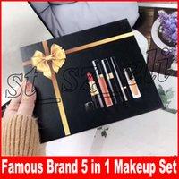 Wholesale color brand eyeliners online - Famous Luxury Brand in lips makeup set Matte lipstick eyeliner mascara Lip Gloss lipgloss make up kit