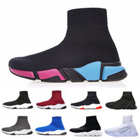 Wholesale man floor socks resale online - Luxury Sock Shoes Casual Shoe Speed Trainer High Quality Sneakers Speed Trainer Sock Race Runners black Shoes men and women size