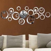 Wholesale reloj pare online - 2019 New Quartz Wall Clock Europe Design Reloj De Pared Large Decorative Clocks d Diy Acrylic Mirror Living Room D19011702