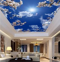 Wholesale building decor for sale - Group buy Cutan Any Size D StereoOriginal blue sky white cloud Curtain Murals Wallpaper Living Room Wall Papers Home Decor Modern Wall Paintinggut