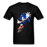 Wholesale sonic anime for sale - Teenager Fitted T shirt Men Sites d Sonic Game Tee With Anime Cartoon Sonic The Hedgehog Great Choice Diy T Shirt Men
