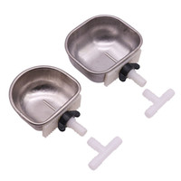 Wholesale rabbit cages for sale - Group buy Stainless Steel Rabbit Bowl Nipple Drinker Large mm Small mm Animal Cage Feeding Supplies new hot sell