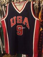 df5bf5f30 Cheap wholesale Michael Olympics Jersey Men nk Sewn  9  23 Dream Team T- shirt vest Stitched Basketball jerseys Ncaa