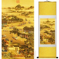 ingrosso china gardening-Mountain And River Painting China Palace Garden Landscape Painting