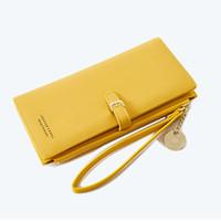 bolso monedero largo al por mayor-Pg154 Diseñador de estilo parisino para mujer Cartera Famosa señora Carteras de lujo Múltiples monedero largo bifold monederos coloridos bolsos