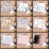 ingrosso mouse d'oro bianco-Mice Marmo serie Mairuige 22X18CM Bella Mouse Pad morbida gomma naturale rosso Oro bianco tappetini per il mouse pad quadrato di gioco