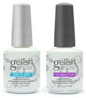 base superior de esmalte de uñas gelish al por mayor-60 unids / lote remojo led uv armonía gel gelish esmalte de uñas gel base de laca base y capa superior