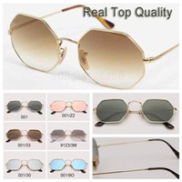Wholesale ladies glasses cases resale online - Octagon fashion sunglasses sun glasses woman lentes for women men ladies des lunettes de soleil pour hommes femmes with case and everything