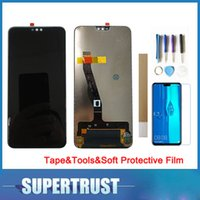 "huawei p6 lcd touch großhandel-6,5 ""für huawei y9 2019 jkm-lx1 jkm-lx3 lcd display + touch sensor glass assembly schwarz mit toolstapesoft schutzfolie"