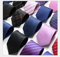 geometrische marken krawatten großhandel-Herren Krawatte Großhandel New Spot Business Pure Striped Krawatten 8C Pfeil Jacquard Krawattenhersteller angepasst LOGO