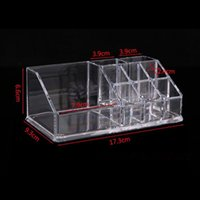 Wholesale lipstick stand holder for sale - Group buy Acrylic Makeup Organizer For Cosmetic Display Stand Lipstick Storage Box Makeup Tools Brush Holder Home Organiser F3509