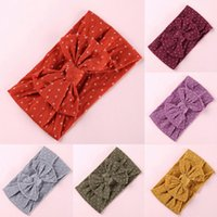 Wholesale baby headwraps for sale - Group buy Nylon Bowknot Baby Girls Headband Infant Turban Headwraps Newborns Photography Props Hairband Baby Kid Cheese