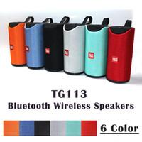 ingrosso altoparlanti vivavoce del bluetooth-Altoparlante TG113 Altoparlanti wireless Bluetooth Subwoofer Profilo chiamate vivavoce Bass Bass stereo Supporto TF USB Card Linea AUX In Hi-Fi Loud