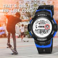 девушки часы дата оптовых-Мода светодиодные электронные часы водонепроницаемый студенческие спортивные электронные девушки мальчики дети часы будильник дата часы подарок