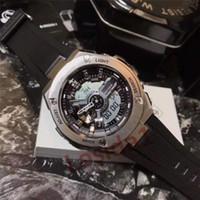 metal kasa saatleri toptan satış-Erkekler Yeni G Stil Spor Saatler Metal İzle Vaka Moda erkek LED Analog Çift Ekran Kuvars Kol Saati Askeri Su Şok açık Saat