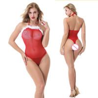 ingrosso rosa scivola lingerie-Lingerie sexy donne adulte costume da infermiera costume vestito cosplay set moda Natale lingerie babydoll biancheria erotica