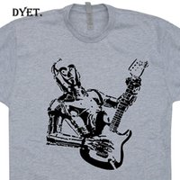 Wholesale acoustic guitar white for sale - Group buy C3PO Guitar T Shirts Bass Amp Electric Yoda Playing Rock Acoustic Vintage Mens T Shirt Design Basic Top tee Funny