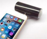 micrófonos dirigidos al por mayor-Mini altavoz portátil de 3,5 mm Inserción directa Micrófono estéreo Altavoz portátil Reproductor de música MP3 Altavoz para teléfono móvil Tableta PC Dropper