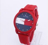 Wholesale american buckle resale online - American leisure Men and women sports fashion simple quartz watch table student silicone strap watch