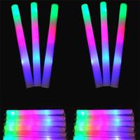konser ışık çubuğu toptan satış-LED Renkli çubuklar led köpük sopa yanıp sönen köpük sopa, ışık tezahürat kızdırma köpük sopa konser Işık çubukları