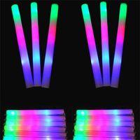 tiges led rougeoyantes achat en gros de-Les tiges colorées de LED ont mené le bâton de mousse de bâton de mousse, concert léger de bâton de bâton de mousse de lueur allumant des bâtons légers