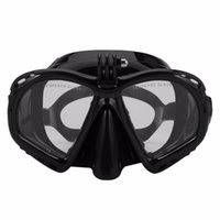 Wholesale dive masks camera for sale - Group buy Professional Underwater Diving Mask Scuba Snorkel Swimming Goggles Scuba Diving Equipment Suitable For Most Sport Camera Black