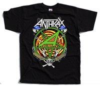 banda de metal impressão venda por atacado-Anthrax V1, banda de Thrash metal, Joey Belladonna, poster CAMISETA (PRETA) S-3XL