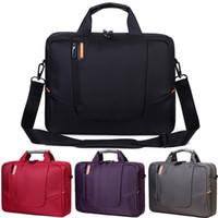 Wholesale waterproof tablet bags resale online - 14 Inch Waterproof Nylon Computer Laptop Solid Notebook Tablet Bag Bags Case Messenger Shoulder for Men Women