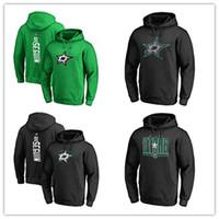 yeşil ceket siyah kollu toptan satış-2019 erkek Dallas Stars Hockey Hoodies Markalı Siyah Kül Yeşil Gri Spor Hoody uzun Kollu Açık Giyim Yeni Sıcak erkekler Ceketler sprinted Logolar