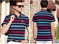 ingrosso mens moda polo-Designer Polo Mens Polo Camicie Uomo T shirt di lusso manica corta T-shirt alla moda Cavaliere Tops Abbigliamento 3 colori hotX6 opzionale