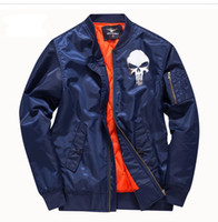 зимняя синяя форма оптовых-Осень и зима новая мужская куртка стенд воротник синий бейсбол равномерное молодежная куртка корейской версии тренда ВВС полета костюм мужской c